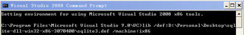 在C++中使用sqlite的示例(从下载、编译、工程建立、配置、测试代码编写全方位介绍)